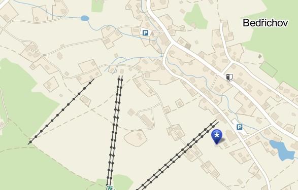 Mapa Bedřichov